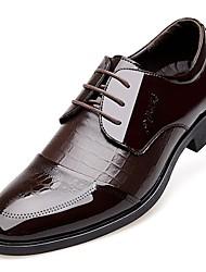 Для мужчин обувь Лакированная кожа Весна Лето Осень Зима Удобная обувь Формальная обувь Туфли на шнуровке Шнуровка В клетку Назначение