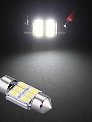 белый 6 SMD LED 5630 СМД гирлянда внутренний купол света шарика 31mm (2 шт)