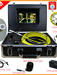 """Pipe Inspection System 10M Sewer Waterproof Camera Pipe Pipeline Drain Inspection System 7""""LCD DVR"""
