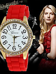 Explosion product inserts digital single diamond Geneva Silicone Diamond Watch Cool Watches Unique Watches
