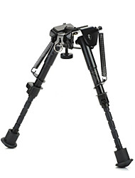 "M-3  6"" Retractable Aluminum Alloy Tactical Spring Loaded Bipod Rifle Stand for M4 / M16"