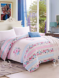 Elegant Woman, Full Cotton Reactive Printing Elegant Flowers Bedding Set 4PC, Queen King Size