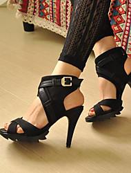 Women's Shoes Heel Heels / Peep Toe / Platform Sandals / Heels Outdoor / Dress / Casual Black / Brown