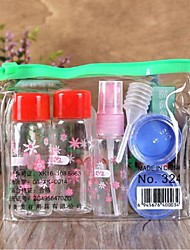 7Pcs Shading Makeup Plastic Travel Bottle Set