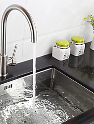 Deck Mounted Single Handle One Hole Kitchen Faucet With Swivel Spout Stainless Steel K40CF18SS