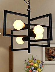 40W Vintage / Country Bulb Included Painting Metal Pendant Lights Study Room/Office / Game Room / Garage