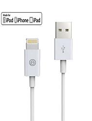 OPSO usb SC15 pomme mfi certifié 3m de câble pour l'iphone 6 / 6s, 6 / 6s en plus, l'iPhone 5 / 5s / 5c, câble du chargeur de données ipad