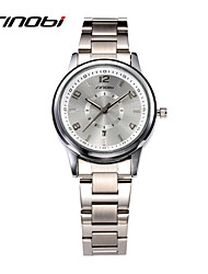 Women's Fashion Watch Quartz Calendar Water Resistant / Water Proof Alloy Band Silver Brand SINOBI