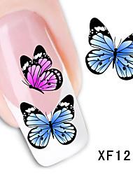 30sheets  Mixed  Beautiful Butterfly DIY Water Transfer Sticker Nail Art STZ蝴蝶30