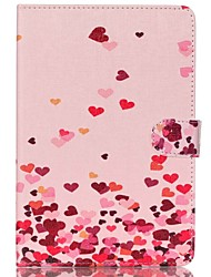 Pink Hearts Folio Leather Stand Cover Case With Stand for iPad Mini 4