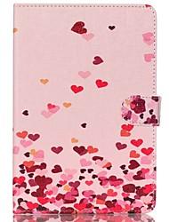 coeurs roses en cuir folio cas de couverture de stand avec support pour iPad mini-4