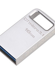 Original Kingston 16GB Digital  DTMicro USB 3.1/3.0 Type-A Metal Ultra-Compact Flash Drive (DTMC3/100M/S)