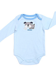 Girl's Blue Clothing Set , Cartoon Cotton Summer