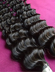 brazilian deep wave hair 8a grade unprocessed brazilian virgin hair 2pcs lot on sale natural color water wave hair