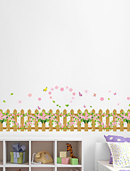Wall Stickers Wall Decals Style The New Fence Skirting Line Waterproof Removable PVC Wall Stickers