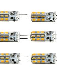6 kpl No G4 3W 24 SMD 2835 160-190 LM Lämmin valkoinen / Kylmä valkoinen T Himmennettävä LED-maissilamput DC 12 V