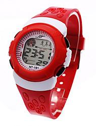 Дети Спортивные часы электронные часы LCD Календарь Секундомер тревога Спортивные часы Цифровой Plastic Группа Черный Синий Красный