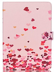 Pink Hearts Folio Leather Stand Cover Case With Stand for iPad Air 2