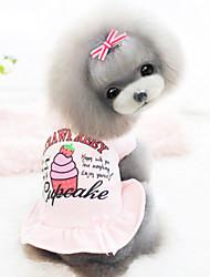Cães Vestidos Branco / Rosa Roupas para Cães Inverno Da Moda