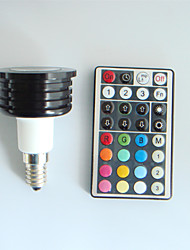 4W E14 LED Spot Lampen MR16 1 High Power LED 300 lm RGB Dimmbar / Ferngesteuert / Dekorativ AC 100-240 V 1 Stück