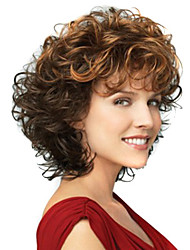 Fashion Lady Short Mix Color Curly Beautiful Wigs
