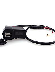 iztoss motocicleta 3.1a dupla usb carregador de telefone&voltímetro
