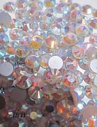 1440pcs/pack  White Colors AB Rhinestones DIY Crystal Glass Designs Nail Art  3d Decoration Diamond NC239