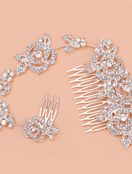 New Long Type Multi-functional Bride Hair Comb With Diamond Alloy Headdress