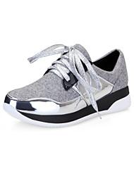 Серый - Женская обувь - Для прогулок / На каждый день - Искусственная замша - На плоской подошве - С круглым носком - Лоферы
