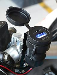 черный водонепроницаемый зарядное устройство мотоцикла USB с переключателем мобильного телефона адаптер автомобильного зарядного