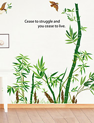Wall Stickers Wall Decals Style Cartoon Bamboo PVC Wall Stickers