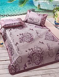 Yuxin®Jacquard ice Siya hemp mat summer air-conditioned seats ice silk mat mat single or double  Bedding Set