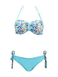 Damen Bikinis  -  Floral Push-Up / Gepolsterte BHs / Bügel-BH Nylon / Elasthan Halfter
