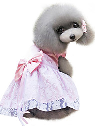 Dog Dress / Clothes/Clothing Red / Blue / Pink / Purple Summer / Spring/Fall Bowknot Fashion