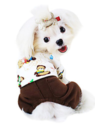 Собаки Комбинезоны Желтый / Зеленый / Коричневый Одежда для собак Зима / Весна/осень Мультфильмы Мода