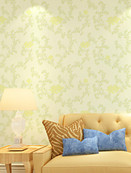 PALUTON Floral Wallpaper Contemporary Wall Covering , Non-woven Paper Simple High-end Fashion Flowers