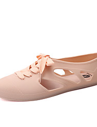 Women's Shoes Rubber Flat Heel Comfort /Casual Black / Blue / Yellow / Pink / Light Green / Beige