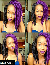 12Inch purple Afro Marly Curly Synthetic Kanekalon Fiber Hair Havana Twist Hair Extesnion Crochet Braids