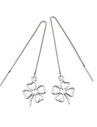 Women's Earrings Set Fashion Sterling Silver Four Leaf Clover Jewelry For Wedding Party Daily Casual Sports