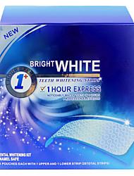 14 peças dentes uso doméstico branqueamento tiras sabor de menta para clareamento dos dentes