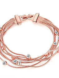 Bracelet/Chain Bracelets Alloy / Rhinestone / Rose Gold Plated Wedding / Party / Daily Jewelry Gift Rose Gold,1pc