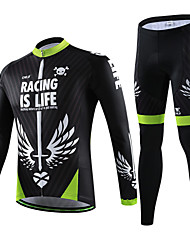 CHEJI Bike/Cycling Arm Warmers / Jersey / Jersey + Pants/Jersey+Tights / Clothing Sets/Suits Men's Long SleeveBreathable / Ultraviolet