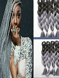 cor fibra química trança gradiente de cor peruca preta africano