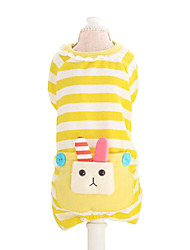 Dog Hoodie / Clothes/Jumpsuit / Clothes/Clothing Green / Blue Spring/Fall Animal / Stripe Fashion