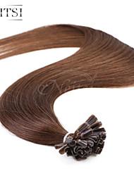 """neitsi 20 """"1g / с 50g кератина слияние у ногтей наконечник прямые Ombre человеческих волос 4 #"""