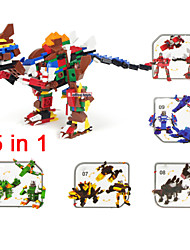 dinosaur Models Building Toy Hobbies Ship Motorcycle 5 In 1 Style Blocks Retail Simulation Bricks Kids Educational Toys