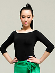 High-quality Viscose with Criss-Cross Latin Dance Tops for Women's Performance (More Colors)