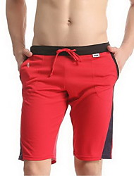 Men's Shorts,Casual Color Block Polyester / Spandex