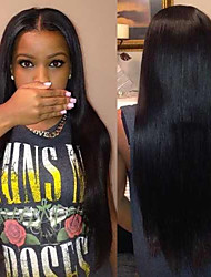"10""-26"" Lace Front Full Lace Wigs Natural Straight Unprocessed Cheap Brazilian Virgin Human Hair Lace Wigs"