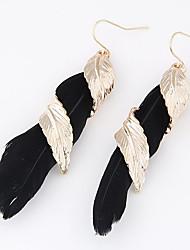 Earring Leaf Drop Earrings Jewelry Women Daily / Casual Alloy 2pcs Gold